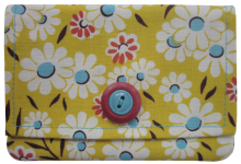yellow floral mini wallet